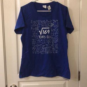 "NWT Nerdy Woman's ""13 Years Old"" Shirt Size Large"